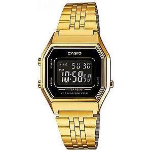 Relógio Unissex Casio Vintage LA-680WGA-1B Dourado