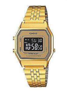 Relógio Unissex Casio Vintage LA-680WGA-9B Dourado