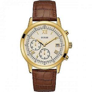 Relógio Masculino Guess W1000G3 Couro Marrom