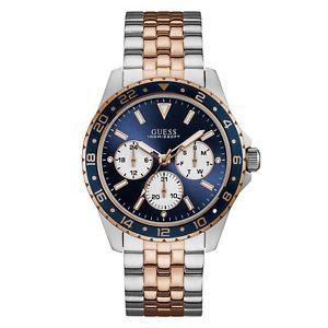 Relógio Masculino Guess W1107G3 Fundo Azul
