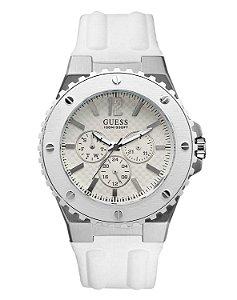 Relógio Masculino Guess W10603G1 Pulseira Branca