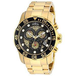 Relógio Masculino invicta Pro Diver 19837 Gold