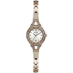 Relógio Feminino Guess W1032L3  Ouro Rose Cravejado