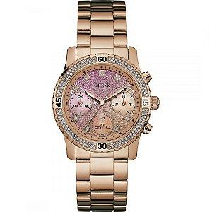 Relógio Feminino Guess W0774L3 Dourado Fundo Rose
