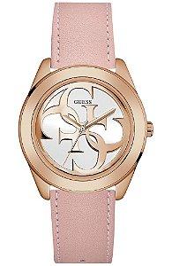 Relógio Feminino Guess W0895L6 Pulseira De Couco Rose
