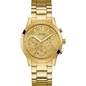 Relógio Feminino Guess W1070L2 Dourado