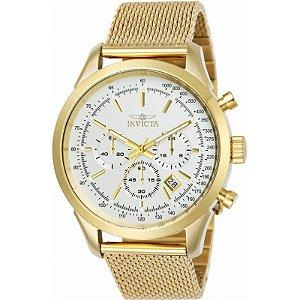 Relógio Masculino invicta Speedway 25225 Dourado Fundo Branco