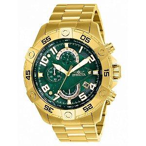 Relógio Masculino invicta S1 Rally 26096 Dourado Fundo Verde