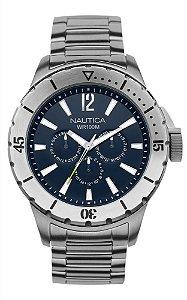 Relógio Masculino Nautica A19568G Prata