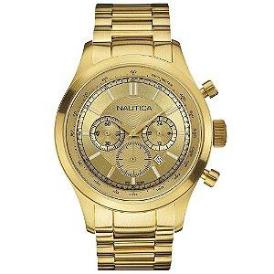 Relógio Masculino Nautica A21531G3 Dourado