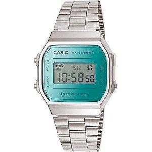Relógio Unissex Casio A168wem-2DF Prata