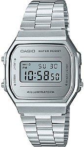 Relógio Unissex Casio Vintage Modelo A168WEM-7DF Prata