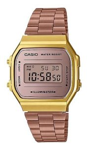 Relógio Unissex Casio Digital A168WECM-5DF Chocolate