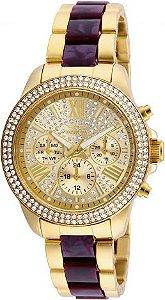 Relógio Feminino invicta 20508 Dourado cravejado