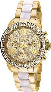 Relógio Feminino Invicta Angel 20511 Dourado Cravejado