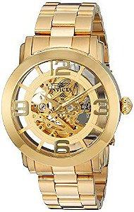Relógio Masculino Invicta Vintage 22582 Banhado ouro 18K