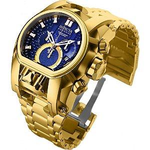 Relógio Masculino Invicta 25209 Banhado ouro 18K