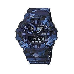 Relógio Masculino Casio G-Shock Ga-700cm-2ad Azul