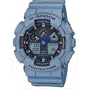 Relógio Masculino Casio G-SHOCK GA-100DE-2ADR Azul