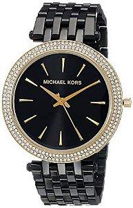 Relógio Feminino Michael Kors MK3322 Preto Cravejado
