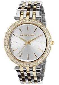 Relógio Feminino Michael Kors MK3215 Dourado e Prata Cravejado