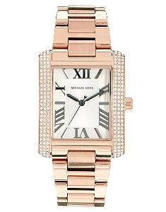 Relógio Feminino Michael Kors MK3255 Ouro Rose Cravejado