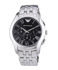 Relógio Masculino Emporio Armani AR1786 Prata Fundo Preto