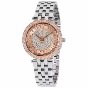 Relógio Feminino Michael Kors mk3446 Prata Cravejado