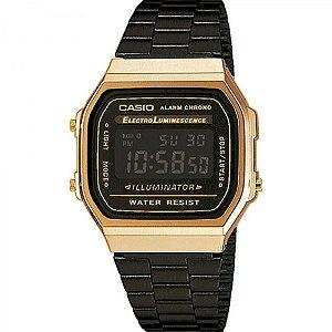 Relógio Feminino Casio Vintage A168wegb-1b Preto