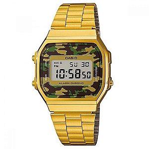 Relógio Masculino Casio Vintage A-168WEGC-3D Dourado