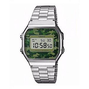 Relógio Masculino Casio Vintage A-168WEC-3D Prata