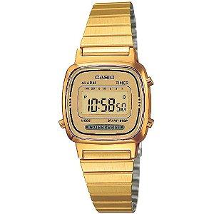 Relógio Feminino Casio Vintage LA-670WGA-9D Dourado