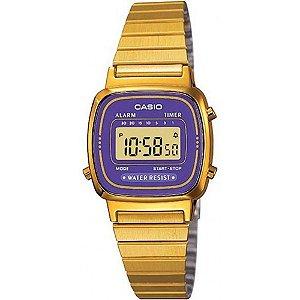 Relógio Feminino Casio Vintage LA-670WGA-6 Dourado