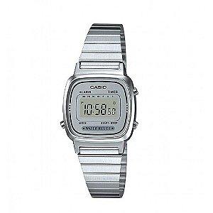 Relógio Feminino Casio Vintage LA-670WA-7 Prata