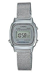 Relógio Feminino Casio Modelo LA670WEM-7 Prata
