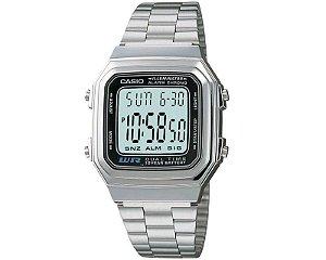 Relógio Unissex Casio A178w-1 Prata