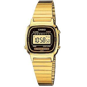 Relógio unissex Casio Vintage LA670WGA-1D Dourado