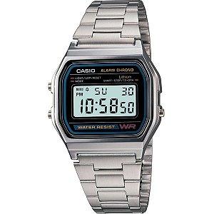 Relógio Unissex Casio A158WA-1 Prata