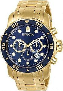 Relógio Masculino Invicta Pro Diver 0073 Dourado