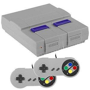 Console Super Mini SN-02 com 821 Jogos Bivolt - Cinza/Roxo
