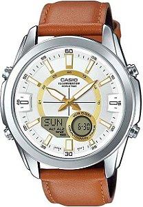 Relógio Unissex Casio AMW-810L-5AV couro