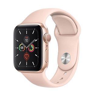 Apple Watch Serie 5 (GPS) 44mm Caixa Em Alumínio Dourado