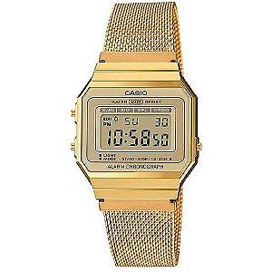 Relógio Feminino Casio Vintage A700WMG-9A Dourado