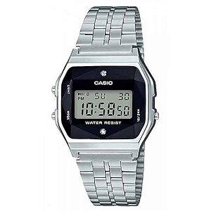 Relógio Feminino Casio Vintage A159WAD-1DF Prata