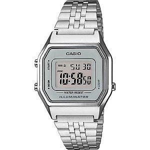 Relógio Feminino Casio Vintage LA680WA-7DF Prata