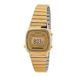 Relógio Feminino Casio Vintage LA670WGA-9DF Dourado