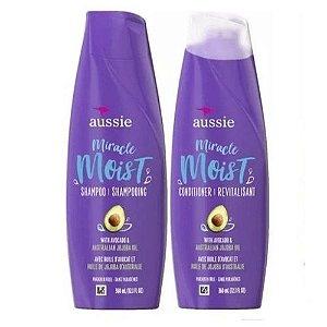 Kit Aussie Moist Abacate Shampoo & Condicionador 360ml