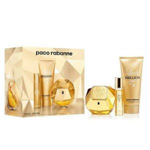 Kit Perfume Paco Rabanne Lady Million Edp 80ML+ Mini 10ML + Creme Corporal 100ML