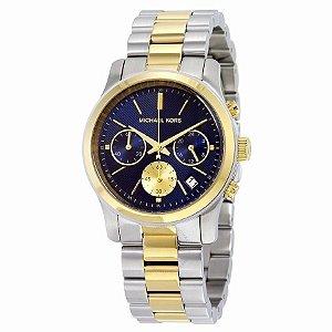 Relógio Feminino Michael Kors MK6165 Misto Prata com Dourado