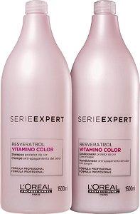 Kit L'Oréal Professionnel Serieexpert Resveratrol Vitamino Color Shampoo 1500ml + Condicionador 1000ml